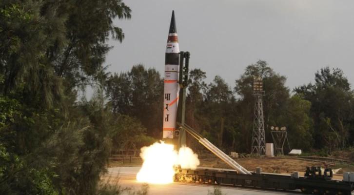 """인도 """"아그니 5 ICBM 시험발사 성공"""""""